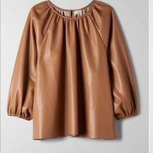 Wilfred   Bica faux leather blouse